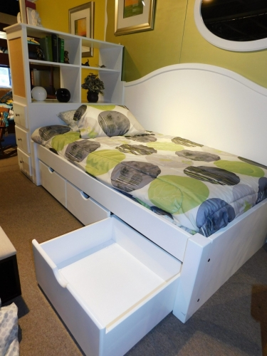 J Miller - Complete Madison Platform Bed with Roll-Out Drawers
