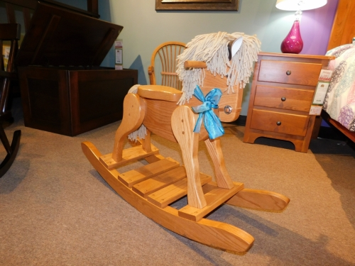 Deluxe Rocking Horse with Wood Seat