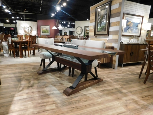 SOLD Walnut River Table