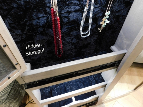 Barnwood Leaner Jewelry Mirror - Hidden Storage