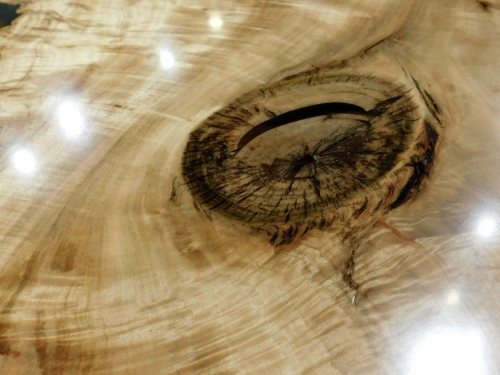 "SOLD - 45"" Round River Resin Coffee Table"