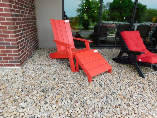 Cape Cod Adirondack Chair and Leg Rest