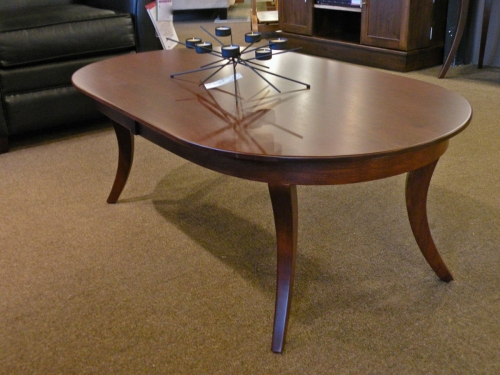 Country Woodshop - Inline Leg Oval Coffee Table