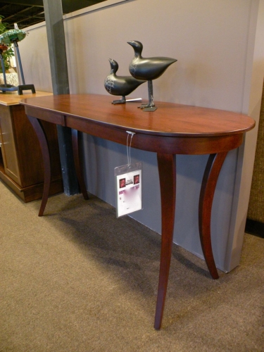 Country Woodshop - Inline Leg Oval Sofa Table