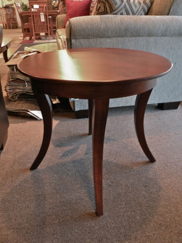 Country Woodshop - Inline Leg Round End Table