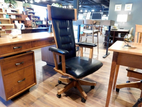 London Fully Padded Arm Desk Chair