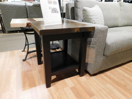 Plank Contemporary Regular End Table