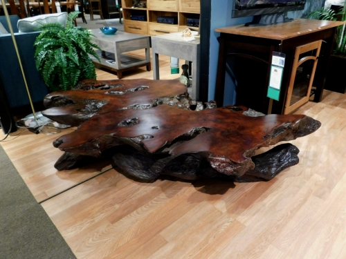 SOLD Redwood Stump Coffee Table without Glass Top