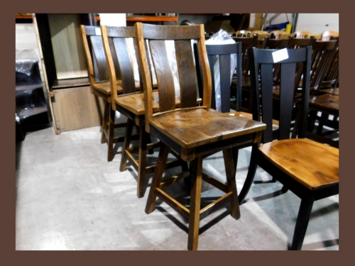 Silverton Bar Chairs in Reclaimed Barnwood