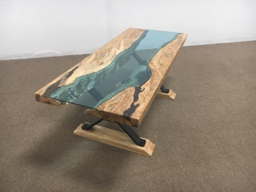 SOLD Custom Small River Coffee Table
