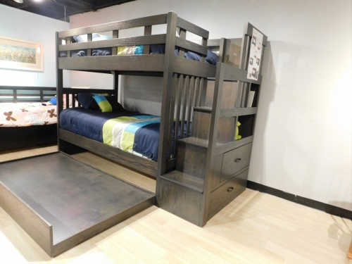 Twin Over Twin Bunk Bed Trundle Option