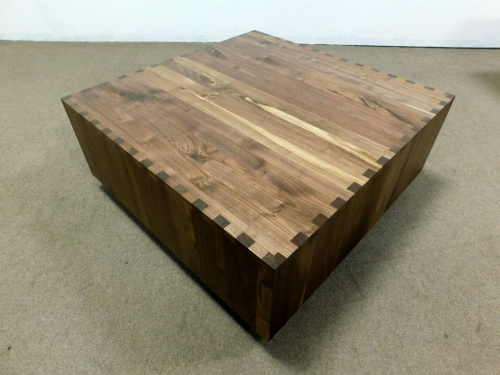 Custom Box-Joint Coffee Table