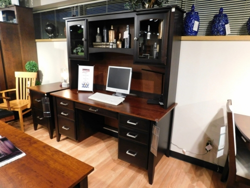 Westbury Wall Desk and Hutch